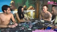 Naughty poker gangbang for german petite skinny latina teen Thumb