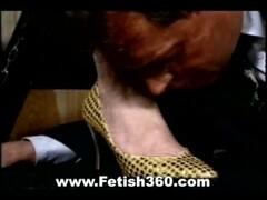 Bondage Slave Licks Master's Feet Thumb