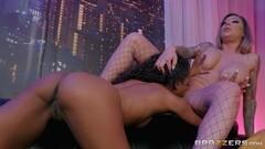 Cute Demi Sutra and Karma RX love muff in the strip club Thumb