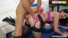 AMATEUR EURO -French Babe Ass Banged In Italian Casting Thumb