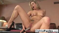 Dahlia Sky In Hot Table Top Masturbation Whore! Thumb