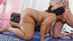 BBW Sofia Rose Teases Trainer Before Hot Fucking Thumb
