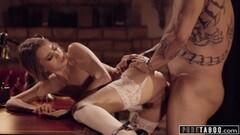 Kinky Secretary Jill Kassidy Submits to Spankings from Boss Thumb