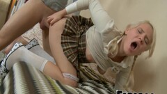 Blonde Student With Big Tits Gets Her Ass Fucked Thumb