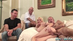 Kasey Grant - Busty Wife Gets Her Ass Pumped Full Of Cum In Front Of Cuckold Thumb