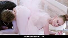 GingerPatch - Redhead Ballerina Riding Judges Big Dickpole Thumb