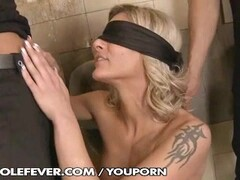 Klarisa Leone get two times anal in the toilet Thumb