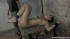 Bound small ltits euro punished by her master Thumb
