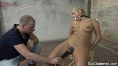 Kinky blonde gets her pussy vibed Thumb