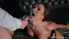 Naughty Abigail Mac fills her face with creamy spunk Thumb