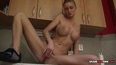 Hottie In The Kitchen Puts On A Show Thumb