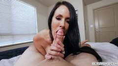 Stepson Is Super Turned On By His Smoking Arousing Babe Stepmom With Reagan Foxx Thumb