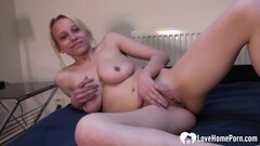 Blond Hair Girl Beauty Puts On A Solo Masturbating Show Thumb