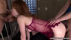 Submissive Asian toyed and fucked doggy style Thumb