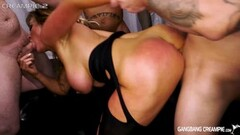 Big Breasted milf Aubrey Black gets creampie by younger guys Thumb