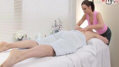 Tired Masseuse Has More Desire To Fuck Hot Instead Of Massaging Mans Back Thumb
