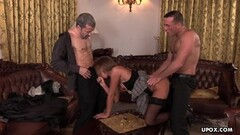 Cock loving Lauryn May ass fucked by two horny guys Thumb