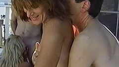 Hot Vintage amateur orgy with two couples in the backyard Thumb