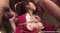 Bound asian loves cock Thumb