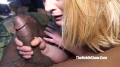 Stacy Gets Her Ass Fucked With Meaty Pole Thumb