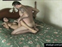 Stocking clad asian fucked in threesome Thumb
