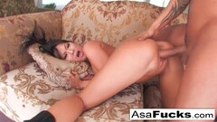 Cute brunette pounded by a monster black cock Thumb