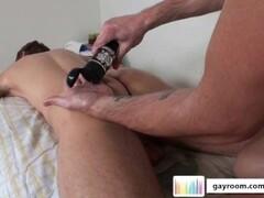 Randy brunette masturbating Thumb