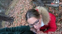Sexy Real Sexdate in forest with german glasses milf pov Thumb