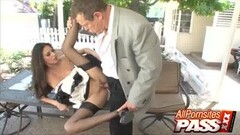 Hot Lubing And Fucking Up The Maid Nikki Daniels Thumb